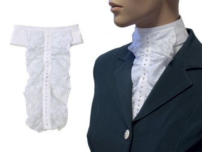 Tattini laced stock tie w rhinestone
