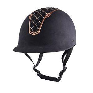 Hkm riding helmet black rosegold