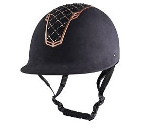 hkm riding helmet rosegold