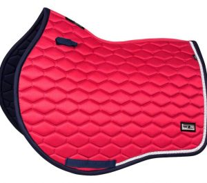 fairplay saddle pad hexagon pearl raspberry